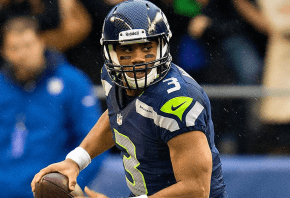 Russell Wilson on the move