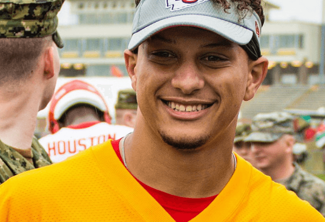 Super Bowl 54 MVP Patrick Mahomes smiling for the camera