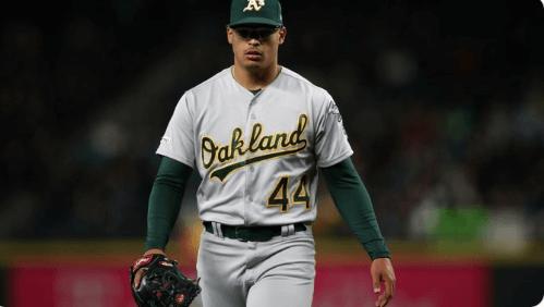 Rookie lefthander Jesus Luzardo