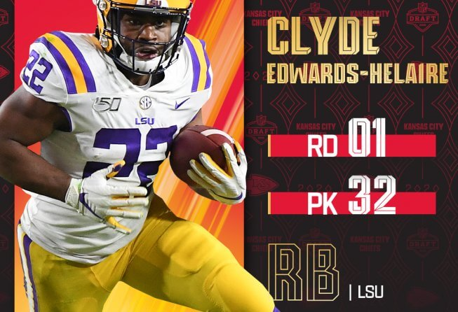 Newest KC Chief Clyde Edwards Helaire