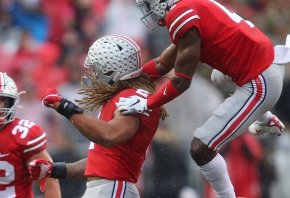 Chase Young celebrating a sack