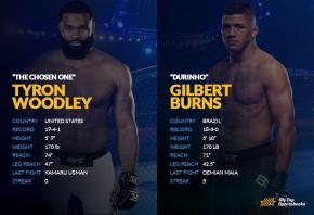 Woodley vs Burns H2H image
