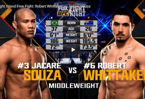 UFC Match up Whittaker vs Till