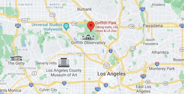 Griffith Park as seen in Google maps