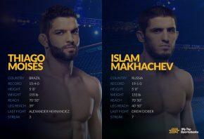 UFC Vegas 31: Makhachev vs. Moises Betting Odds & Picks