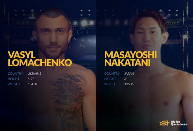 Vasyl Lomachenko vs. Masayoshi Nakatani betting odds