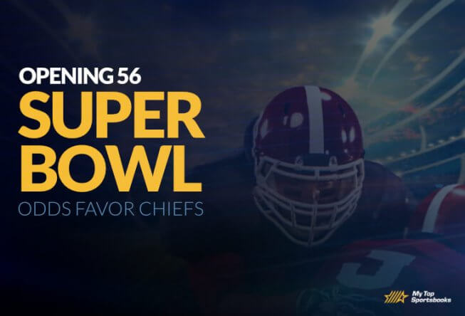 super bowl opening 56 betting odds